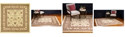 Bridgeport Home Passage Psg4 Ivory 4' x 4' Square Area Rug