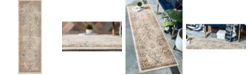 "Bridgeport Home Odette Ode8 Beige 2' 2"" x 6' 7"" Runner Area Rug"