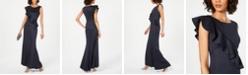 Jessica Howard Ruffled Glitter Gown