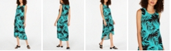 Alfani Petite Printed Tulip-Hem Dress, Created for Macy's