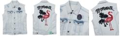 Born Fly Men's Flamingo Denim Vest