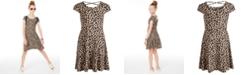 Epic Threads Big Girls Leopard-Print Criss-Cross Dress, Created for Macy's