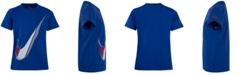 Nike Little Boys Swoosh Logo Cotton T-Shirt