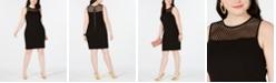 B Darlin Trendy Plus Size Mesh-Trim Sheath Dress, Created for Macy's