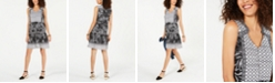 Style & Co Petite Printed Peasant Dress, Created for Macy's