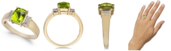 Macy's Peridot (1-5/8 ct. t.w.) & Diamond (1/10 ct. t.w.) Ring in 14k Gold