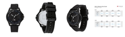 Tommy Hilfiger Men's Black Silicone Watch 42mm
