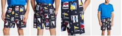 Nautica Men's Cotton Flag-Print Pajama Shorts