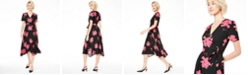 Alfani Floral-Print V-Neck Wrap Dress, Created for Macy's