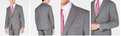 Lauren Ralph Lauren Men's Classic/Regular Fit UltraFlex Stretch Gray Sharkskin Suit Jacket