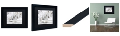 """Trademark Global Jason Shaffer 'Mill Hollow Ice' Matted Framed Art - 14"""" x 11"""""""