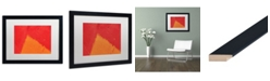 "Trademark Global Claire Doherty 'Abstract Orange Triangle' Matted Framed Art - 20"" x 16"""