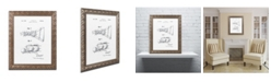 "Trademark Global Claire Doherty 'Practice Device Patent Part 2 White' Ornate Framed Art - 11"" x 14"""