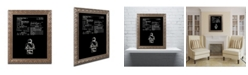 """Trademark Global Claire Doherty 'Lego Man Patent 1979 Black' Ornate Framed Art - 11"""" x 14"""""""