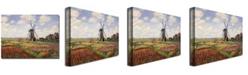 "Trademark Global Claude Monet 'Tulip Fields in Holland, 1886' Canvas Art - 32"" x 26"""