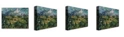 "Trademark Global Paul Cezanne 'Mont Sainte-Victoire' Canvas Art - 47"" x 35"""