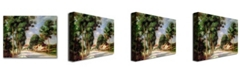 """Trademark Global Pierre Auguste Renoir 'The Road to Essoyes' Canvas Art - 32"""" x 26"""""""