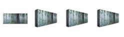 "Trademark Global Claude Monet 'waterlilies Morning' Canvas Art - 24"" x 10"""