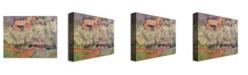 "Trademark Global Paul Cezanne 'The House at Bellevue' Canvas Art - 47"" x 35"""