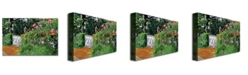 "Trademark Global David Lloyd Glover 'Lantern Gate' Canvas Art - 32"" x 22"""
