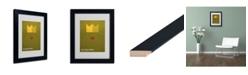 "Trademark Global Christian Jackson 'The Frog Prince' Matted Framed Art - 14"" x 11"""