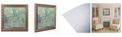 "Trademark Global Claude Monet 'The Waterlily Pond 1899' Ornate Framed Art - 16"" x 16"""