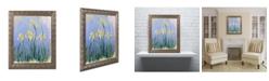 """Trademark Global Monet 'The Yellow Irises 1918-25' Ornate Framed Art - 16"""" x 20"""""""