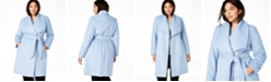 Cole Haan Plus Size Belted Wrap Coat