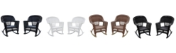 Jeco Rocker Wicker Chair without Cushion - Set of 2