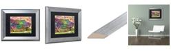 "Trademark Global Dean Russo 'Crocodile' Matted Framed Art - 11"" x 14"""