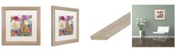 """Trademark Global Carrie Schmitt 'Earth at Daybreak' Matted Framed Art - 16"""" x 16"""""""