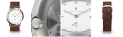 Lilienthal Berlin L1 Standard White Dial Silver Case Leather Watch 37mm