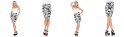White Mark Pretty and Proper Multicolor Paisley Print Pencil Skirt
