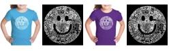 LA Pop Art Girl's Word Art T-Shirt - Smile In Different Languages