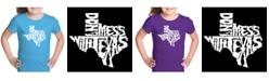 LA Pop Art Girl's Word Art T-Shirt - Don't Mess With Texas