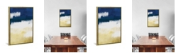 """iCanvas Gold Indigo Shuffle Ii by Marcus Prime Gallery-Wrapped Canvas Print - 26"""" x 18"""" x 0.75"""""""