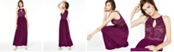 Morgan & Company Juniors' Glitter Lace Gown