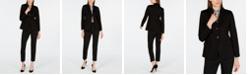 Weekend Max Mara Modern Blazer, Silk Top & Jersey Pants