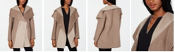 Tahari Colorblocked Wrap Coat