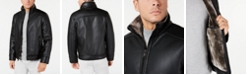 Calvin Klein Men's Pebble Jacket With Faux Shearling Lining, Created for Macy's