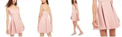 B Darlin Juniors' Pleated Fit & Flare Dress