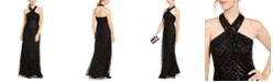 Adrianna Papell Halter Beaded Gown