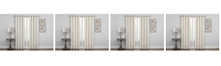 "Regal Home Embroidered Lattice Room Darkening Grommet Curtain, 63"" x 50"""