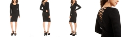 Planet Gold Juniors' Strappy-Back Bodycon Dress