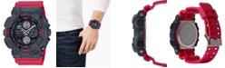 G-Shock Men's Analog-Digital Red Resin Strap Watch 51.2mm