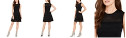 Vince Camuto Mesh Knit Fit & Flare Dress