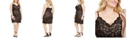 Morgan & Company Trendy Plus Size Glitter Lace Bodycon Dress