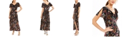 INC International Concepts INC Floral-Print Velvet Maxi Dress, Created For Macy's