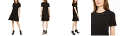 Michael Kors Studded Ruffled Dress, Regular & Petite Sizes