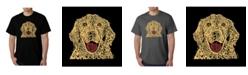 LA Pop Art Men's Word Art T-Shirt - Dog